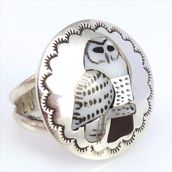 Owl Ring, Quintin Quam, Jewelry, Garland's Indian Jewelry
