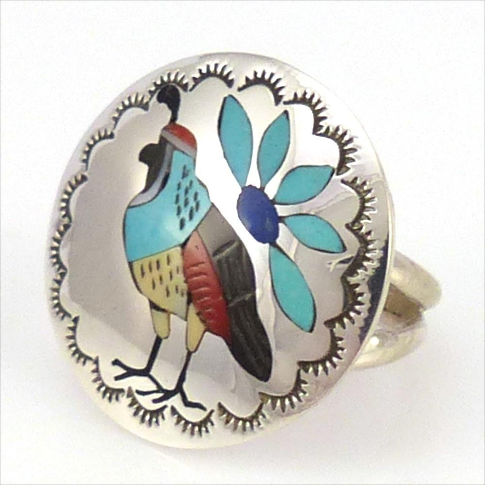 Quail Ring, Quintin Quam, Jewelry, Garland's Indian Jewelry