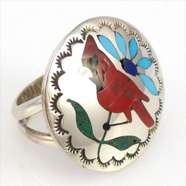 Cardinal Ring, Quintin Quam, Jewelry, Garland's Indian Jewelry