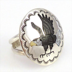 Eagle Ring, Quintin Quam, Jewelry, Garland's Indian Jewelry