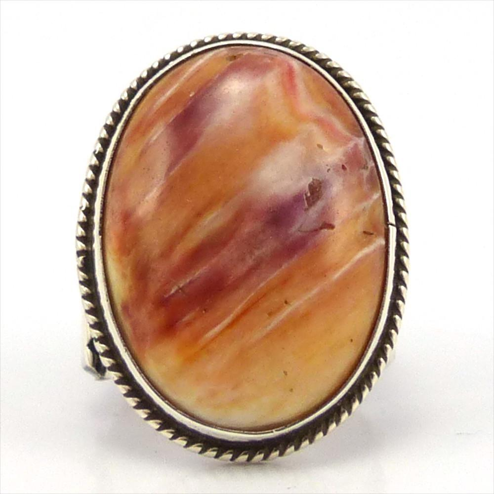 Spiny Oyster Shell Ring, Darrell Cadman, Jewelry, Garland's Indian Jewelry