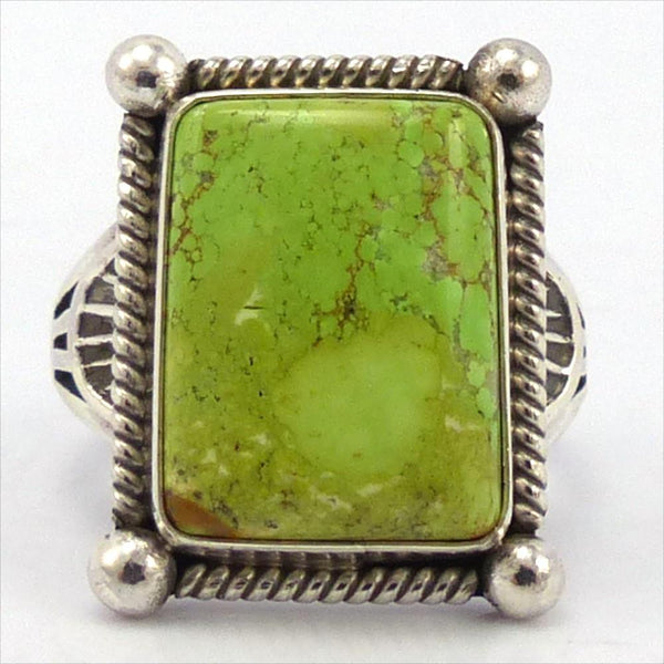 Gaspeite Ring, Toby Henderson, Jewelry, Garland's Indian Jewelry