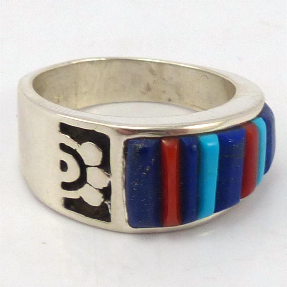 Inlay Ring, Veronica Benally, Jewelry, Garland's Indian Jewelry