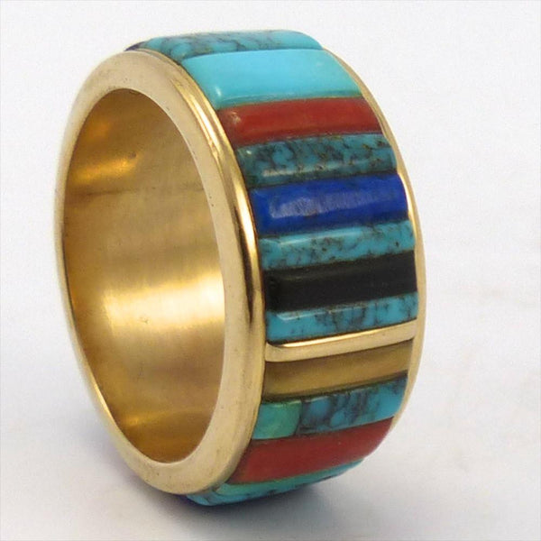 Gold Inlay Ring, Charles Loloma, Jewelry, Garland's Indian Jewelry