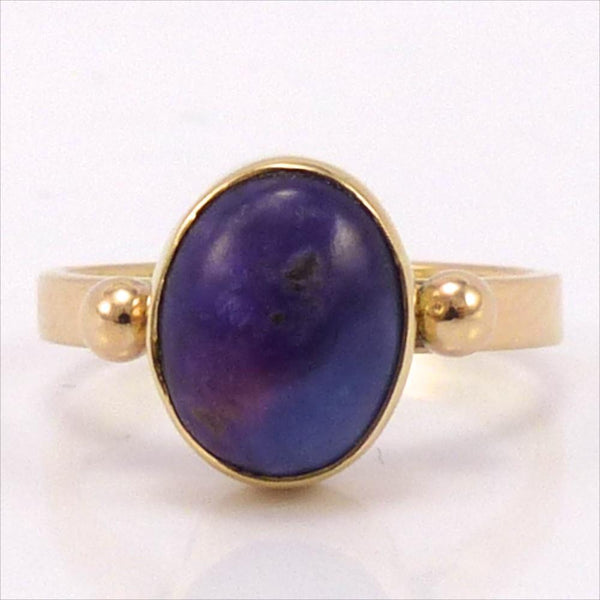 Gold Sugilite Ring