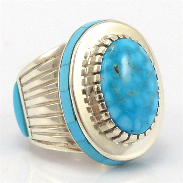 Kingman Turquoise Ring, Michael Perry, Jewelry, Garland's Indian Jewelry