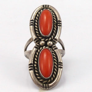 1970s Coral Ring, Vintage Collection, Jewelry, Garland's Indian Jewelry