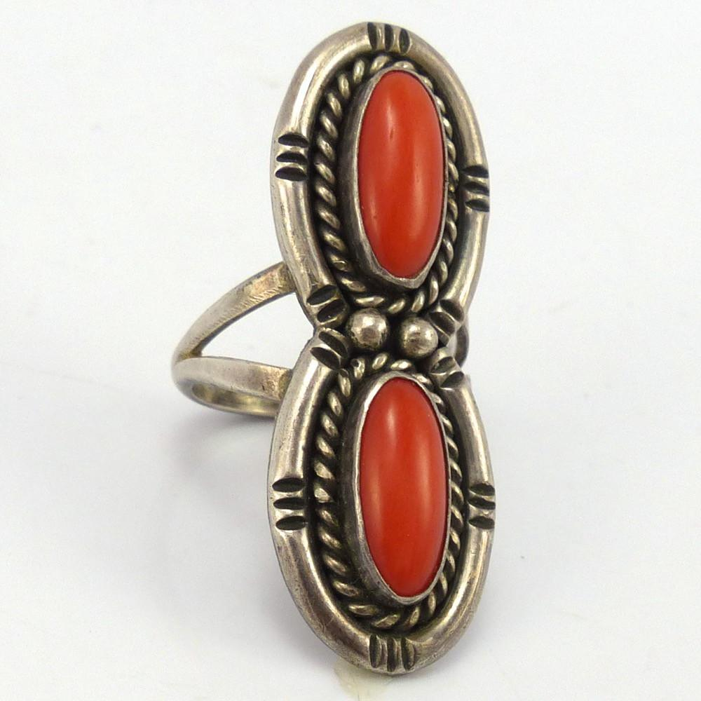 1970s Coral Ring Garland S Indian Jewelry