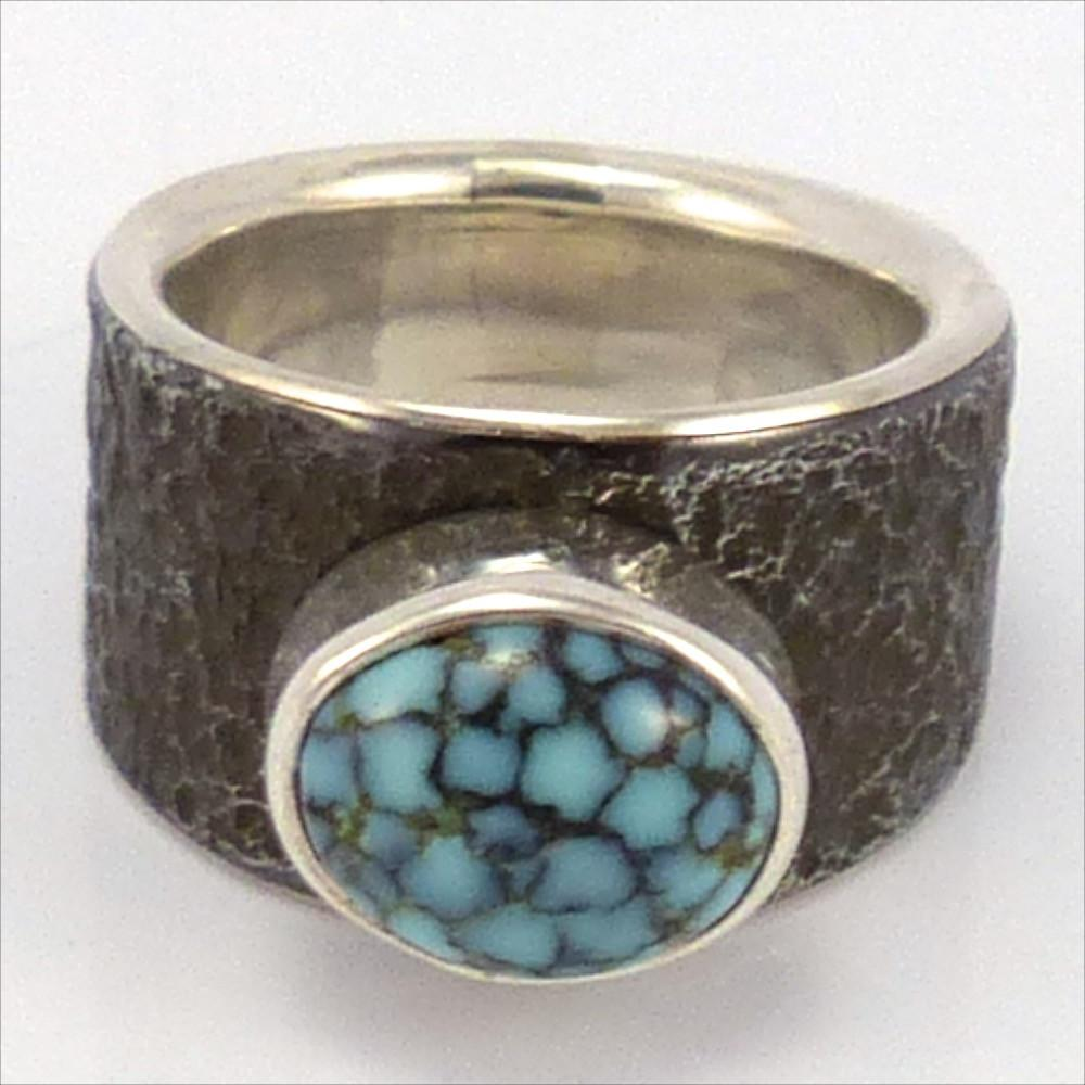 Turquoise and Steel Ring