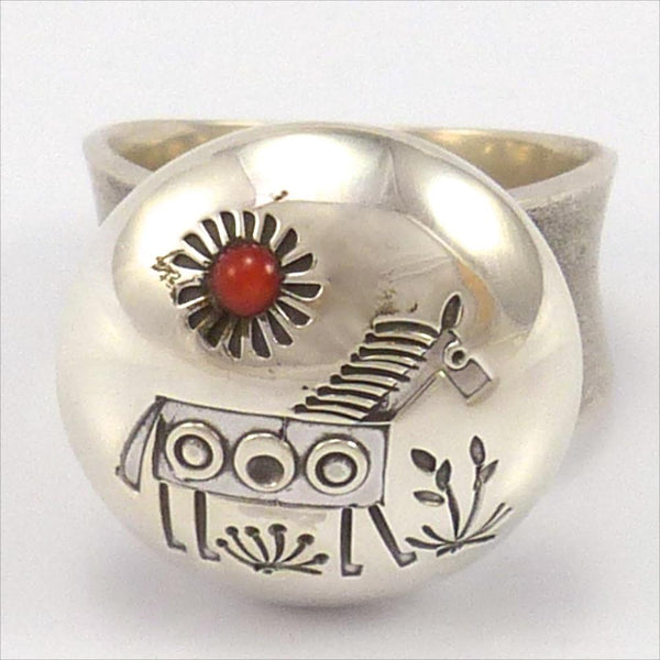 Coral Horse Ring