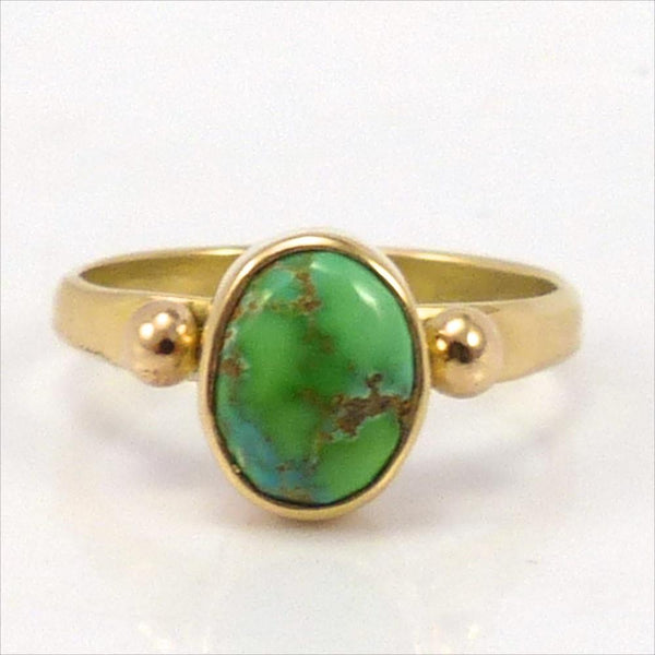 Carico Lake Turquoise Gold Ring