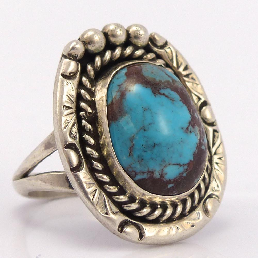 Bisbee Turquoise Ring, Vintage Collection, Jewelry, Garland's Indian Jewelry