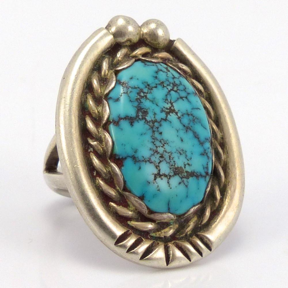 1960s Lone Mountain Turquoise Ring, Michael Carrol, Jewelry, Garland's Indian Jewelry