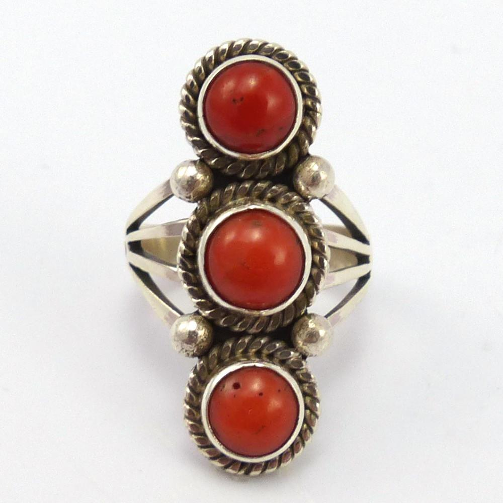 Coral Ring, Toby Henderson, Jewelry, Garland's Indian Jewelry