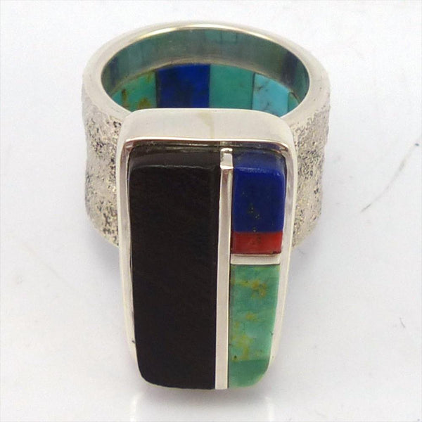 Inlay Ring, Marlin Honhongva, Jewelry, Garland's Indian Jewelry