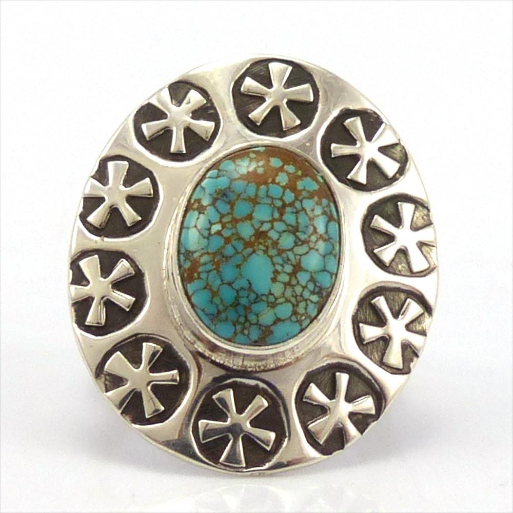 Number Eight Turquoise Ring, Steven Yellowhorse, Jewelry, Garland's Indian Jewelry