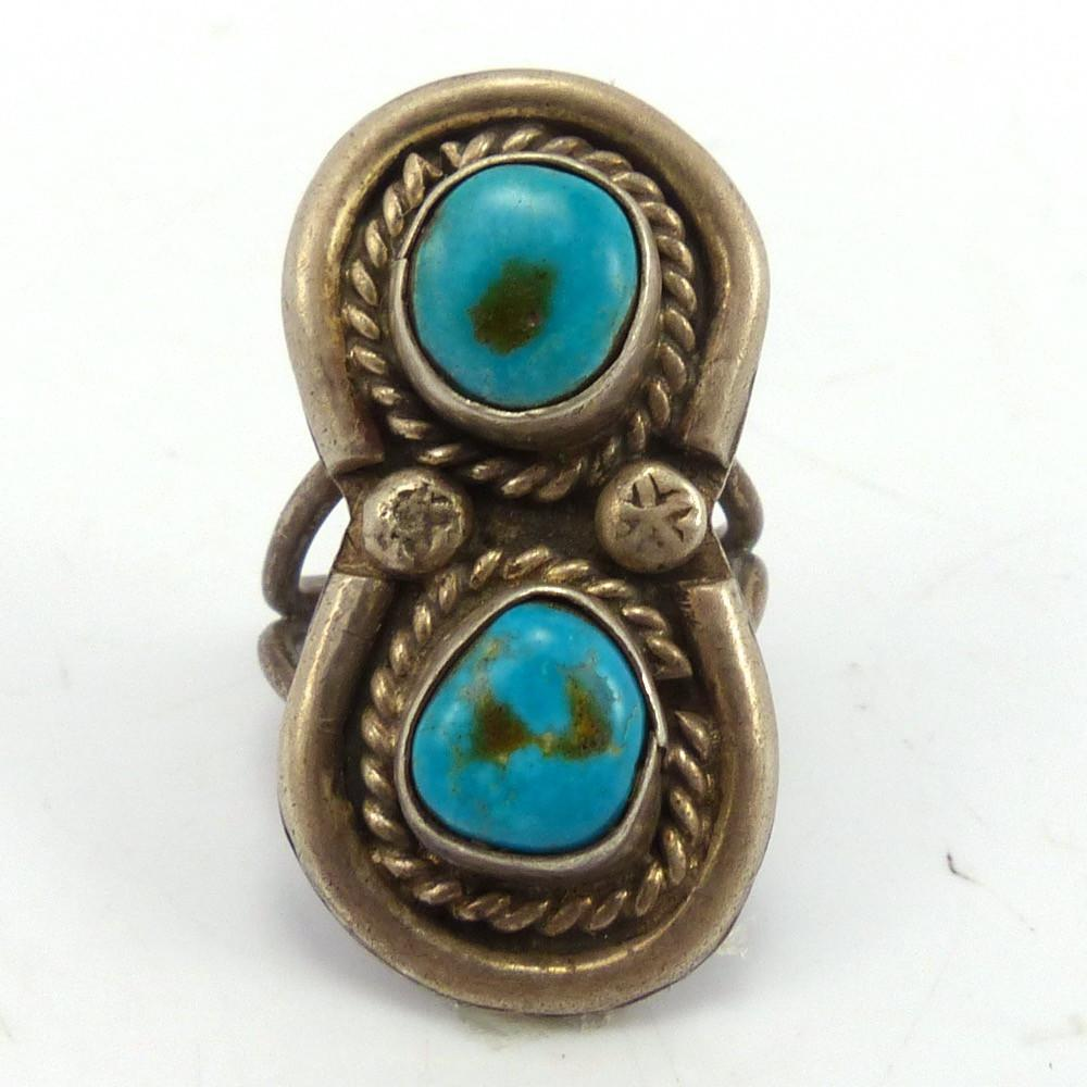 Kingman Turquoise Ring, Vintage Collection, Jewelry, Garland's Indian Jewelry