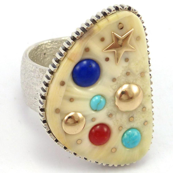 Cobble Inlay Ring, Boyd Tsosie, Jewelry, Garland's Indian Jewelry