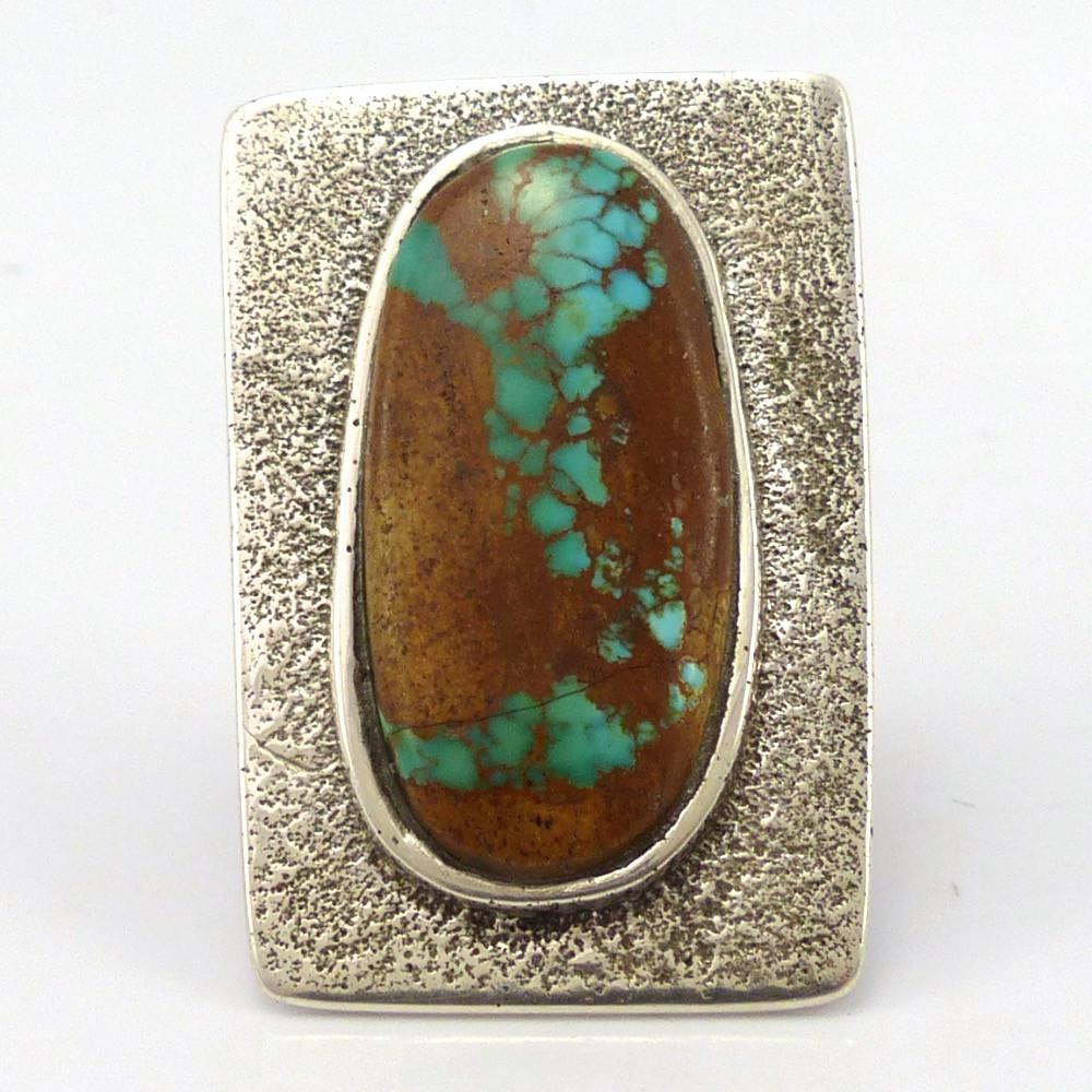 Pilot Mountain Turquoise Ring, Thomas Banyacya Jr., Jewelry, Garland's Indian Jewelry