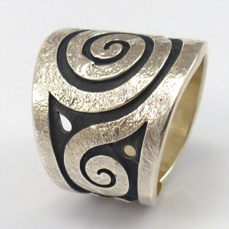 Migration Ring, Ruben Saufkie, Jewelry, Garland's Indian Jewelry