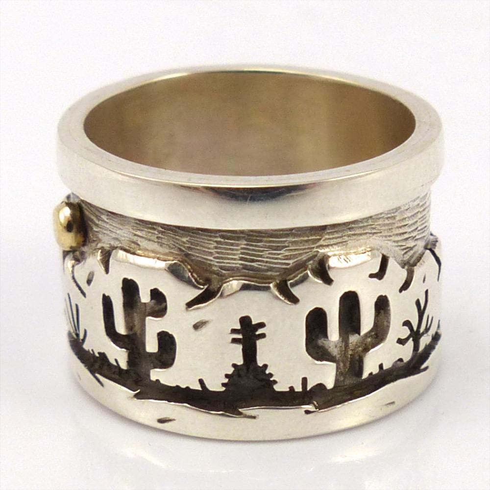 Desert Scene Ring, Rick Manuel, Jewelry, Garland's Indian Jewelry