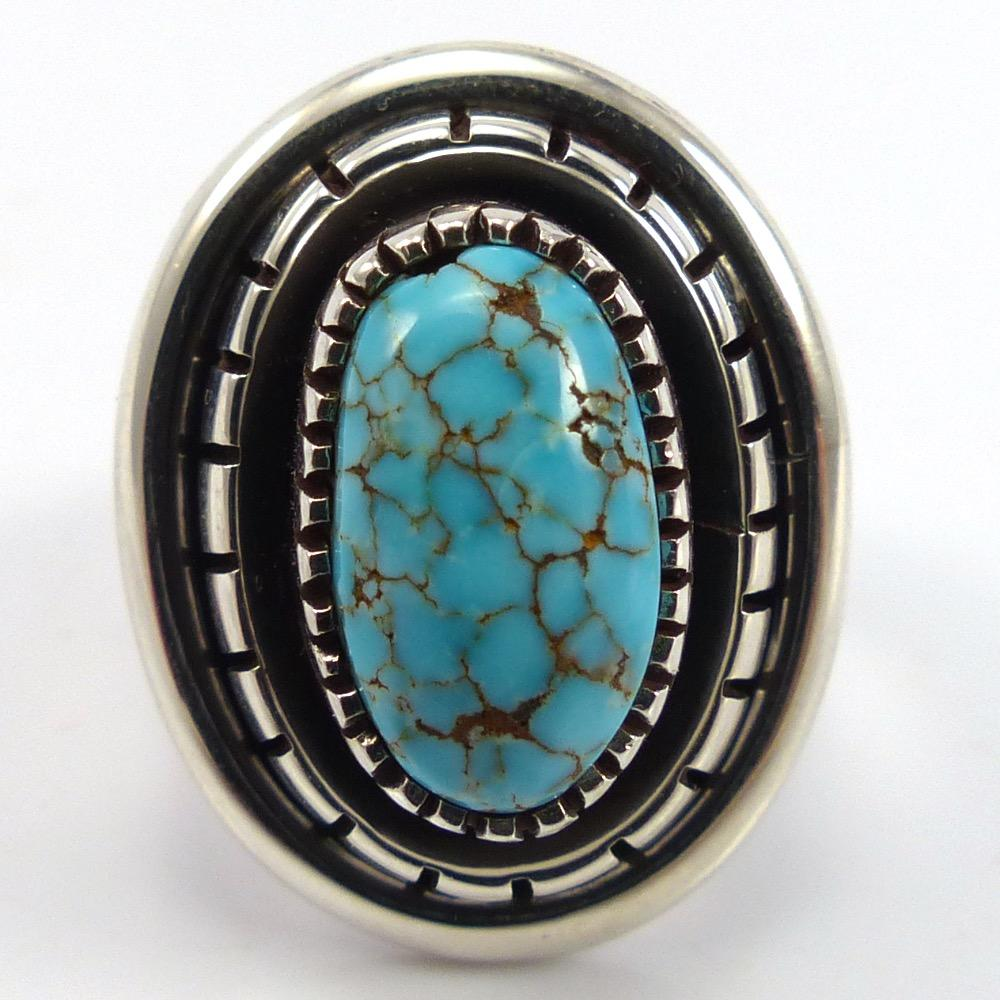 Candelaria Turquoise Ring, Marian Nez, Jewelry, Garland's Indian Jewelry