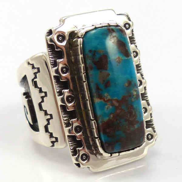 Bisbee Turquoise Ring, Dina Huntinghorse, Jewelry, Garland's Indian Jewelry