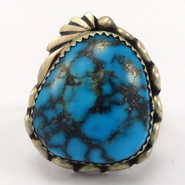 1970s Indian Mountain Turquoise Ring