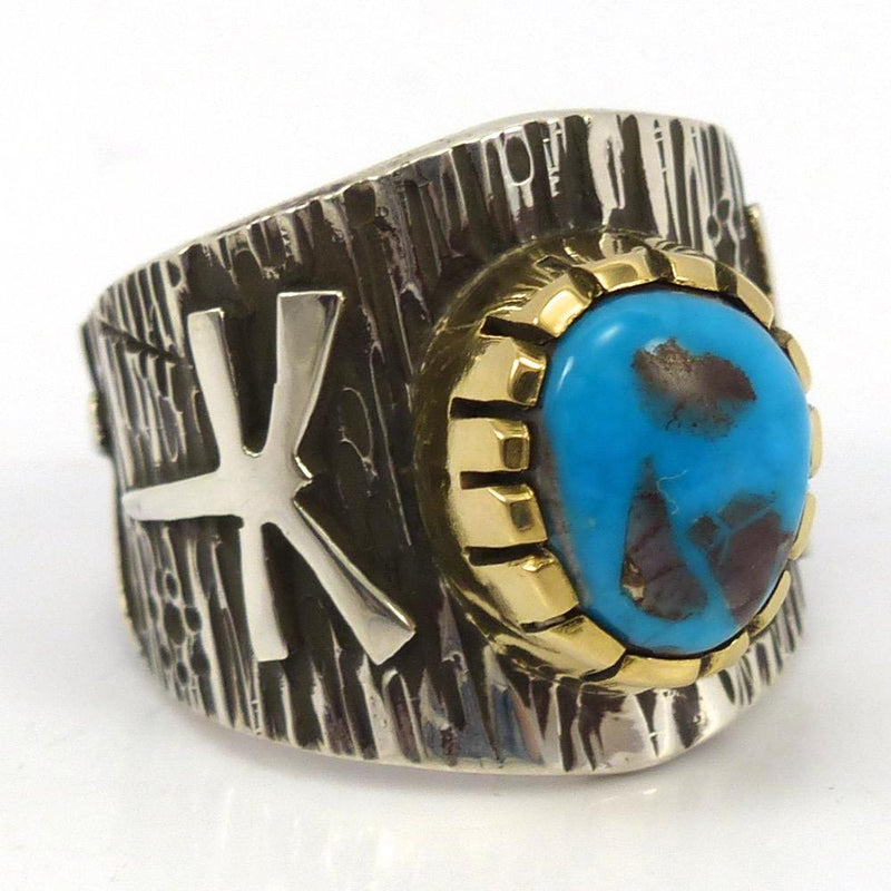 Bisbee Turquoise Ring, Kee Yazzie, Jewelry, Garland's Indian Jewelry