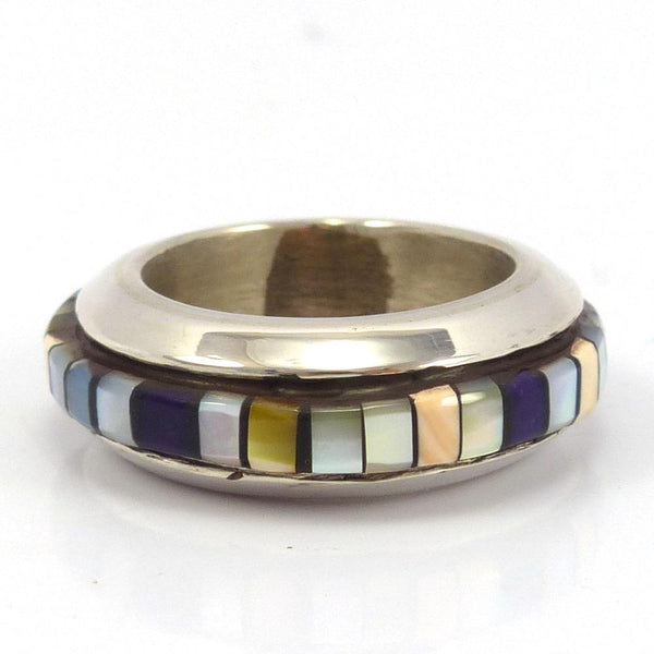 Inlay Ring, Frank and Charlene Reano, Jewelry, Garland's Indian Jewelry