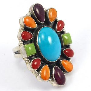 Multi-Stone Cluster Ring, Don Lucas, Jewelry, Garland's Indian Jewelry