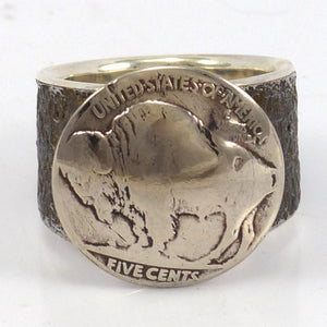 Buffalo Nickel Ring, Noah Pfeffer, Jewelry, Garland's Indian Jewelry