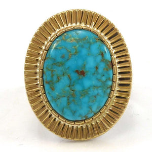 Kingman Turquoise Ring, Dina Huntinghorse, Jewelry, Garland's Indian Jewelry
