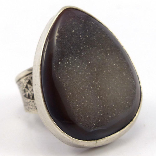 Druzy Ring, Joel Pajarito, Jewelry, Garland's Indian Jewelry