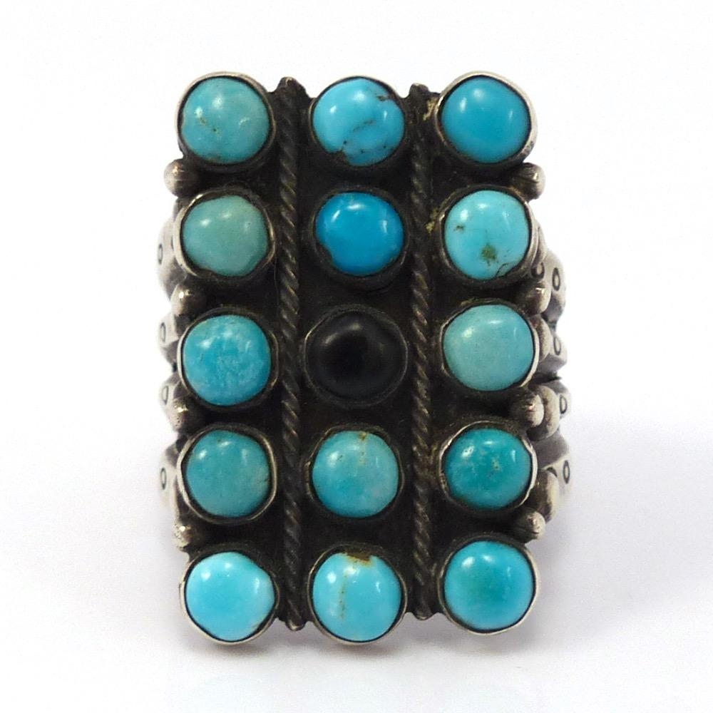 Candelaria Turquoise Ring, Jock Favour, Jewelry, Garland's Indian Jewelry