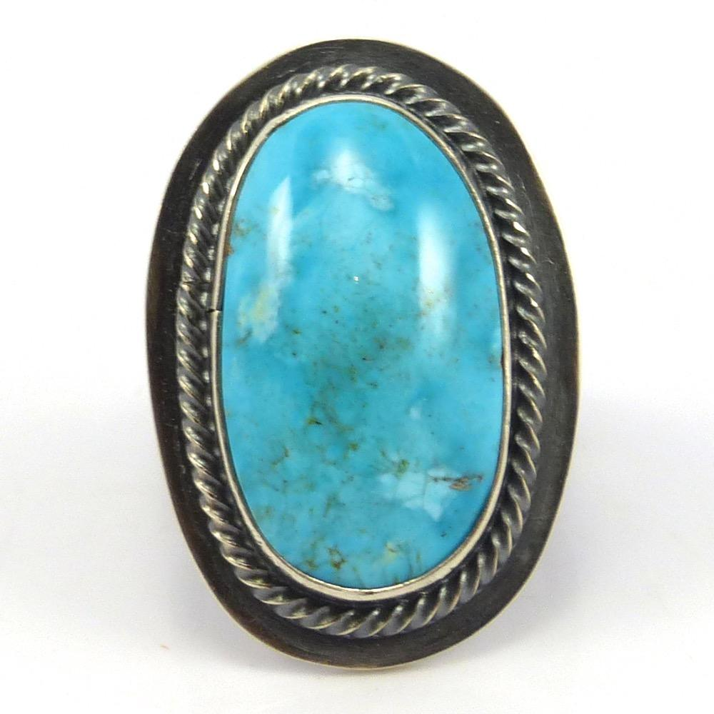 Morenci Turquoise Ring, Tommy Jackson, Jewelry, Garland's Indian Jewelry
