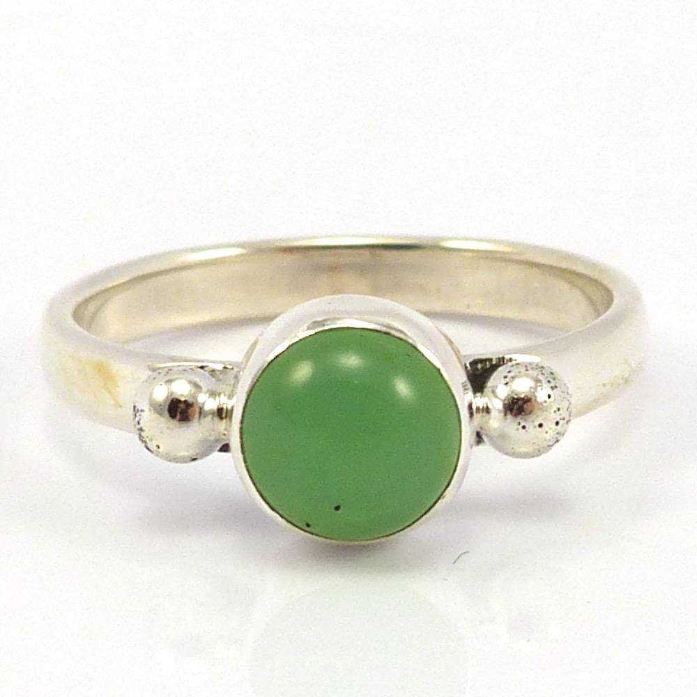 Chrysoprase Ring, Wyatt Lee-Anderson, Jewelry, Garland's Indian Jewelry