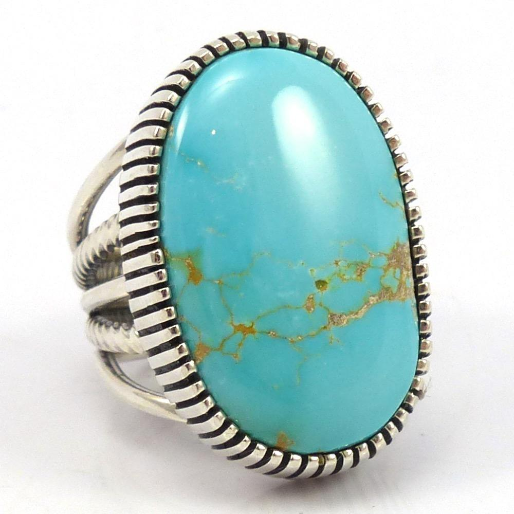Easter Blue Turquoise Ring, Al Joe, Jewelry, Garland's Indian Jewelry