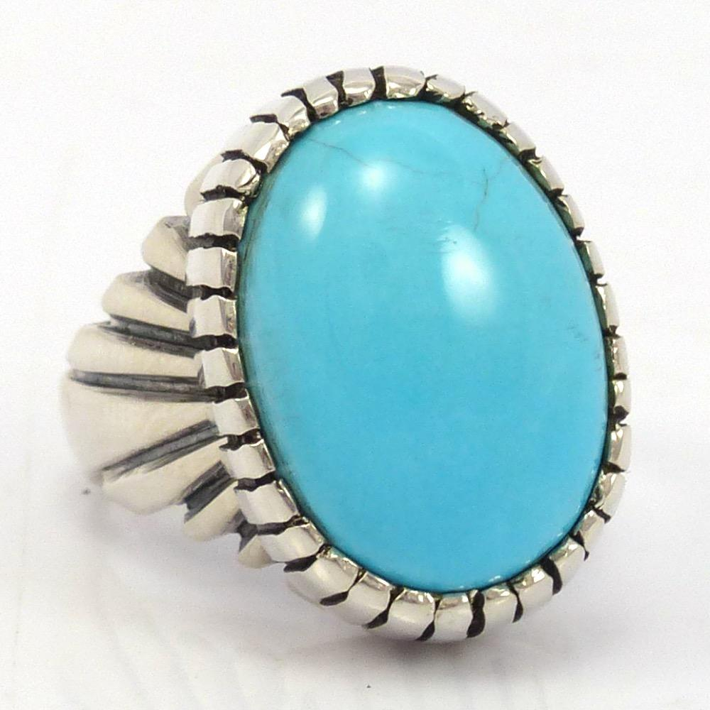 Sleeping Beauty Turquoise Ring - Garland's Indian Jewelry