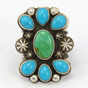 Turquoise Cluster Ring