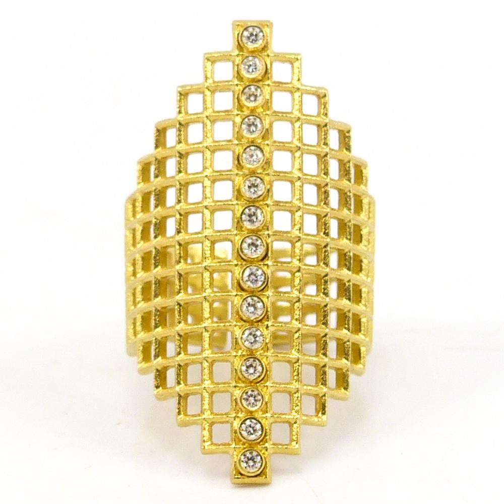 Gold Lattice Ring