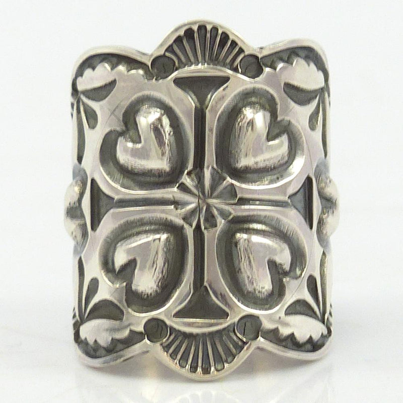Stamped Silver Ring