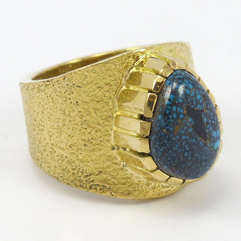 Lander Blue Turquoise Gold Ring