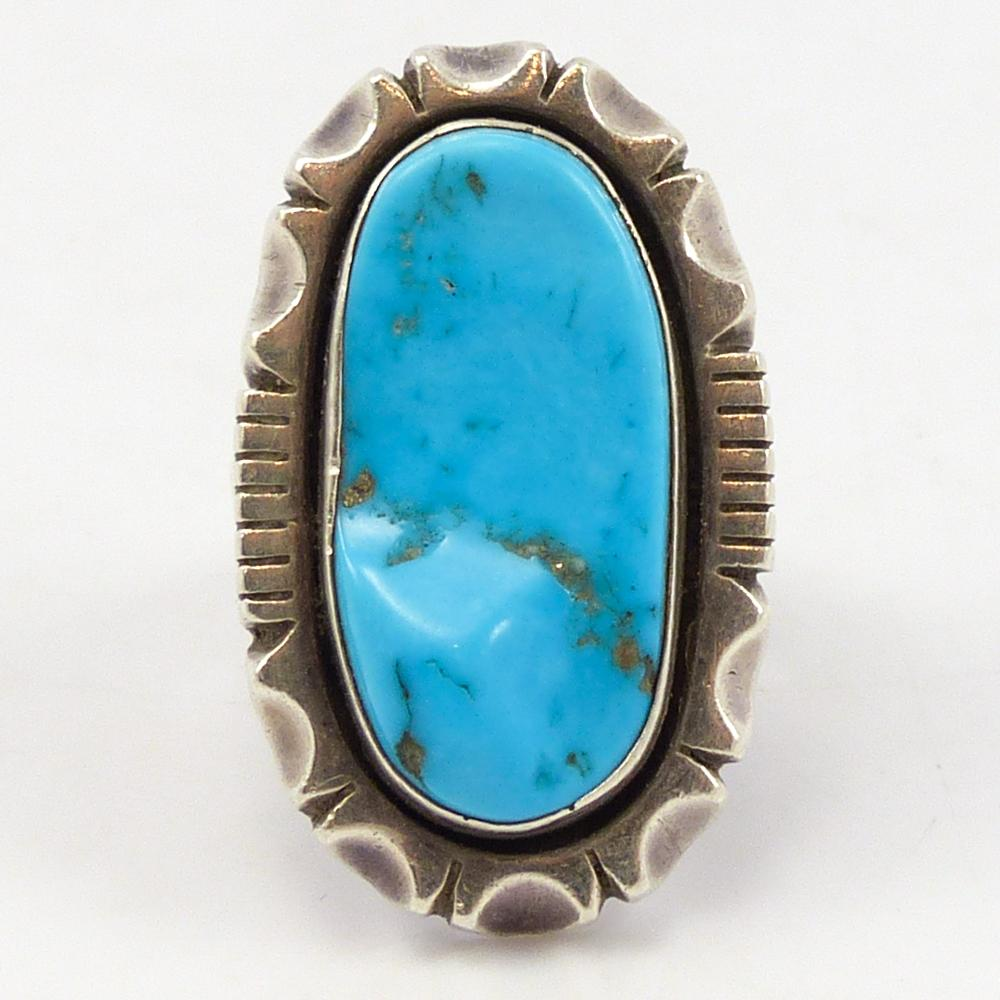 1970s Sleeping Beauty Turquoise Ring