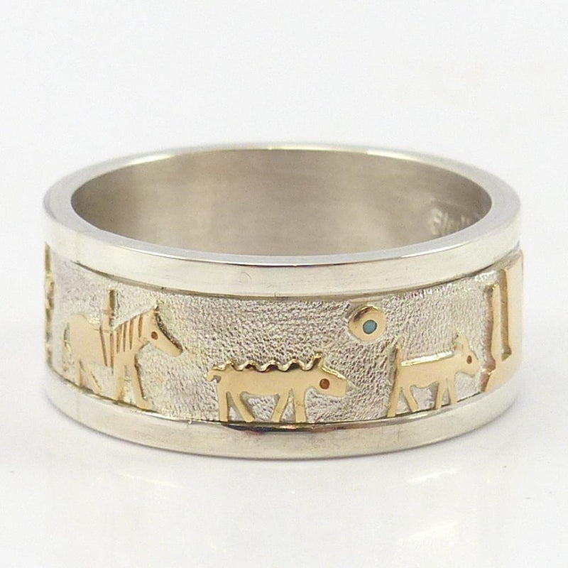 Gold on Silver Storyteller Ring