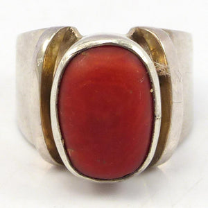 1960s Coral Ring