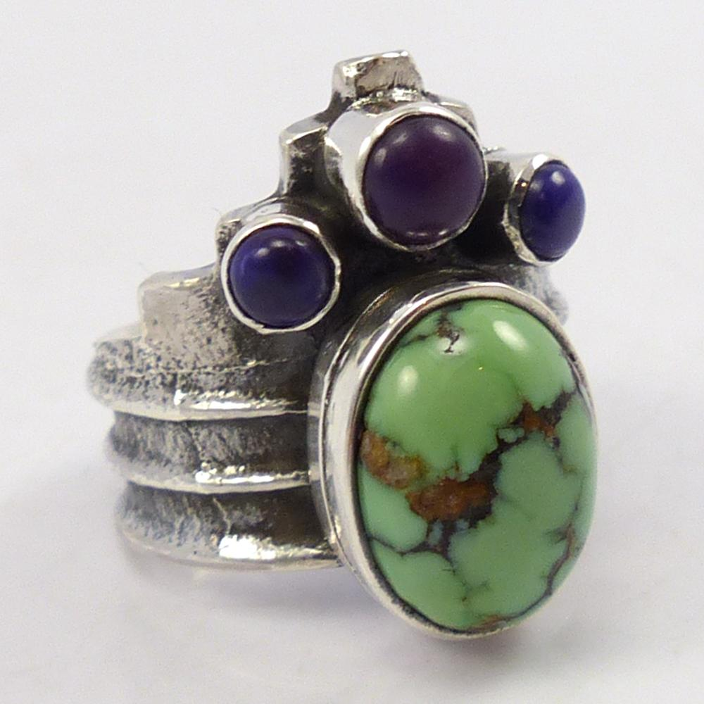 Damele Turquoise and Sugilite Ring