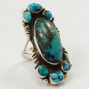 1950s Stormy Mountain Turquoise Ring