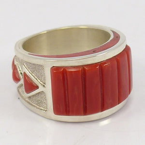 Coral Inlay Ring