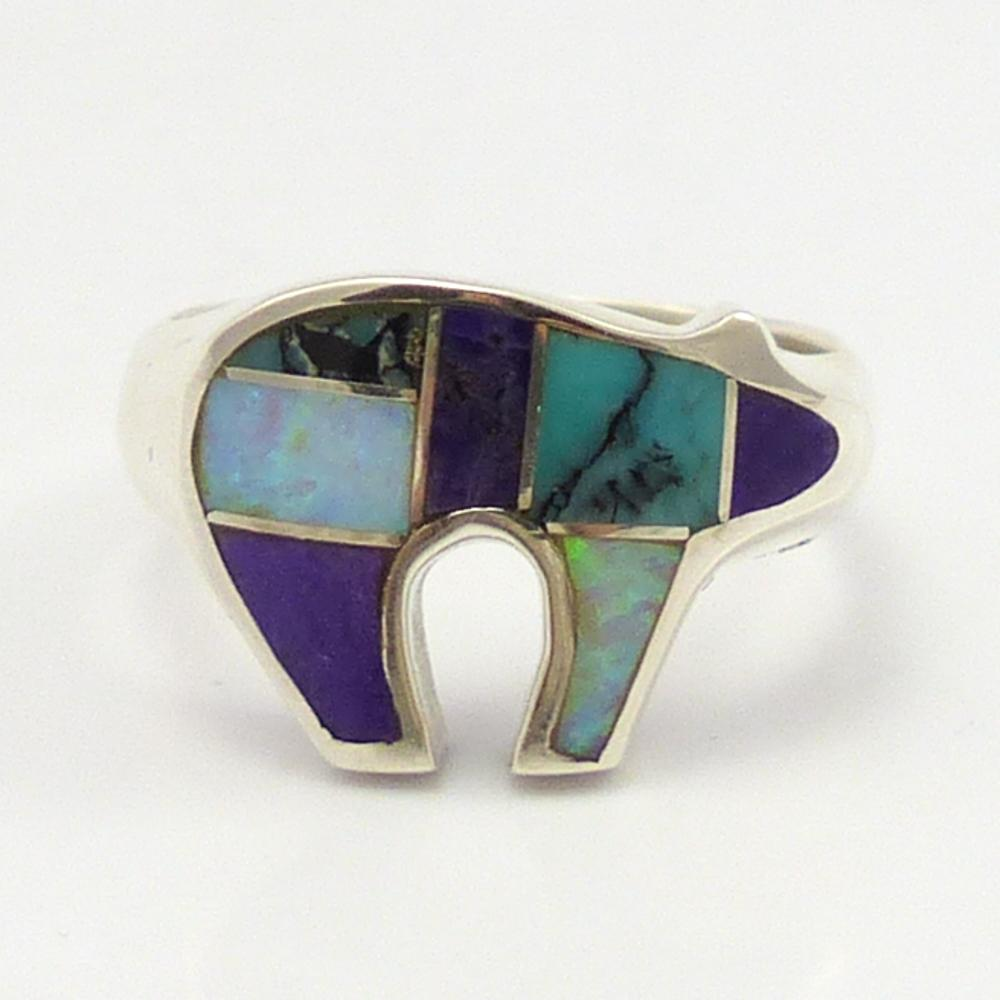 Inlay Bear Ring